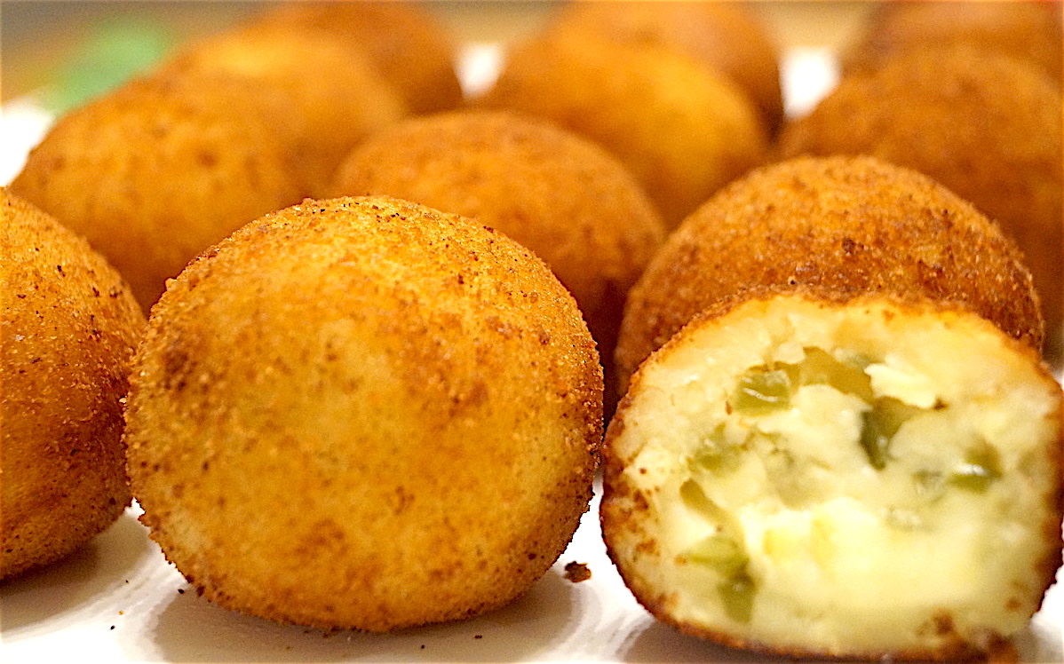 Sweet Potato Croquettes With Cheese and Jalapeno