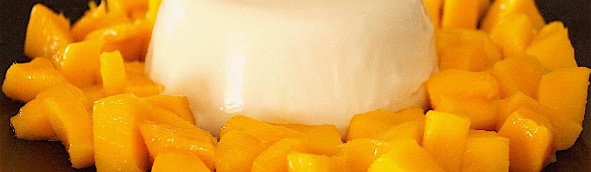 Coconut Panacotta With Fresh Mango