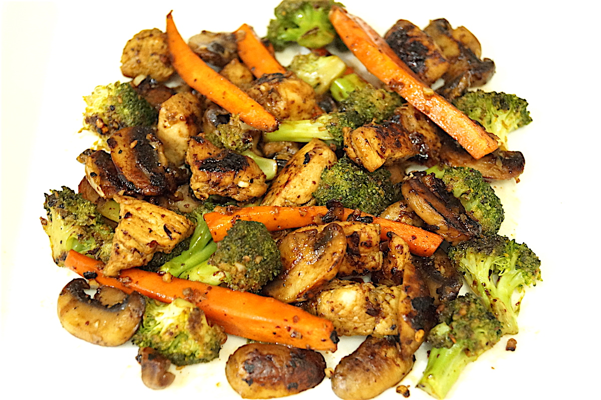 Chicken and Vegetable Stir Fry with Balsamic Vinegar