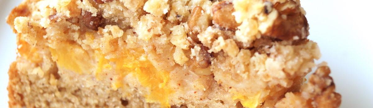 Cinnamon, Peach Crumble Cake