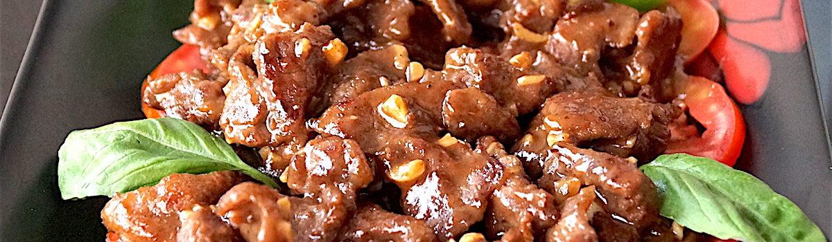 Stir Fried Pork (Cambodian Loc Lak Style)