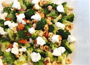 Broccoli Salad with Hazelnuts and Feta Cheese