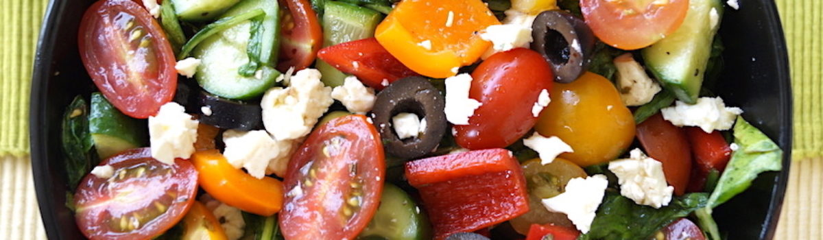 The Best Summer Salad – My Accidental Not-so-Greek, Greek Salad
