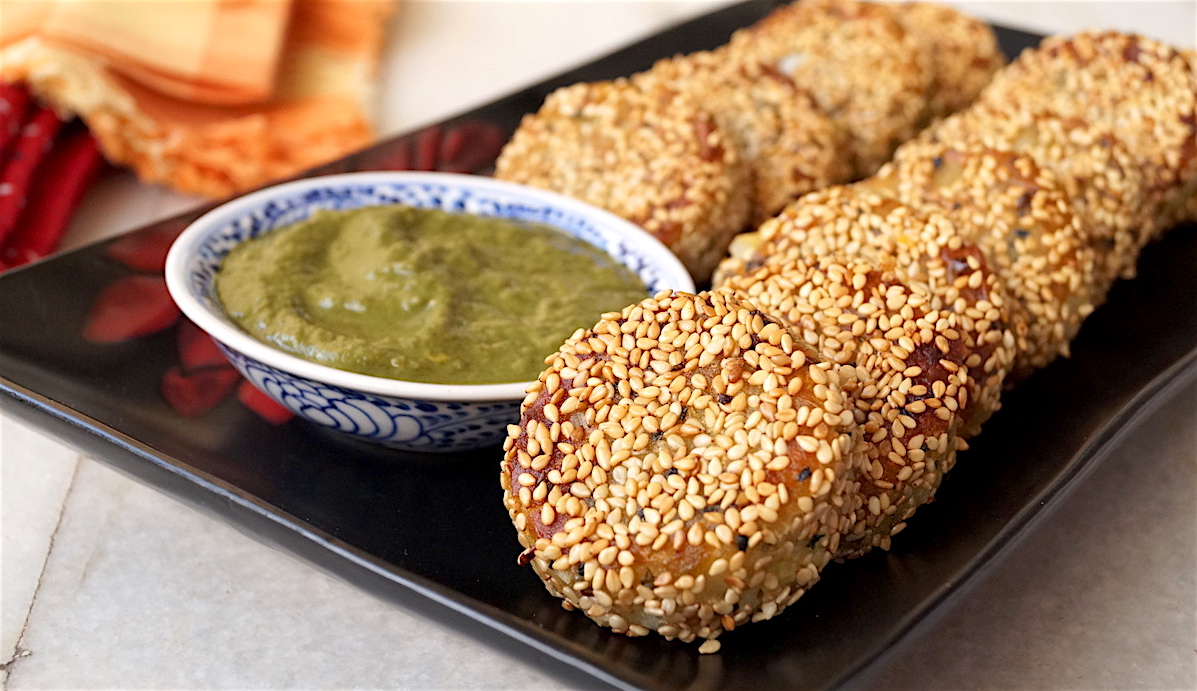 Sweet Potato, Coconut and Sesame Cutlets