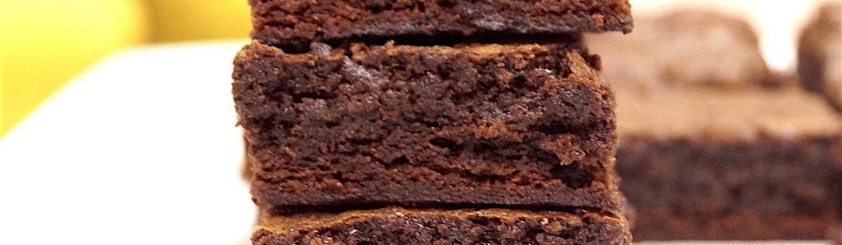 Fudgy, Gooey Dark Chocolate Brownies