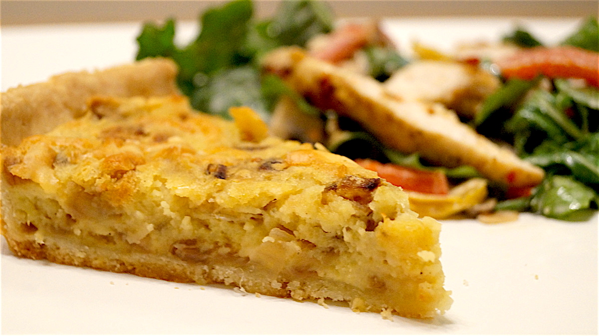 Sweet Potato Tart With Caramelised Onion and Cheddar Cheese