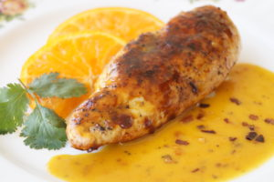Chilli, Orange Glazed Chicken Breast