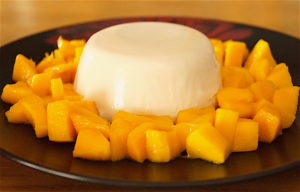 Coconut Panacotta With Fresh Mango