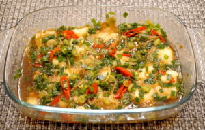 Steamed Fish in Oyster Sauce