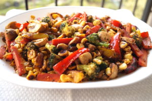 Stir Fried Vegetables with Mint and Fennel Seeds