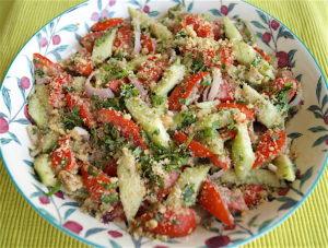 Georgian Style Salad with Walnut Dressing