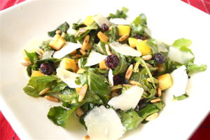 Rocket Salad With Apple, Cranberries and Pine Nuts