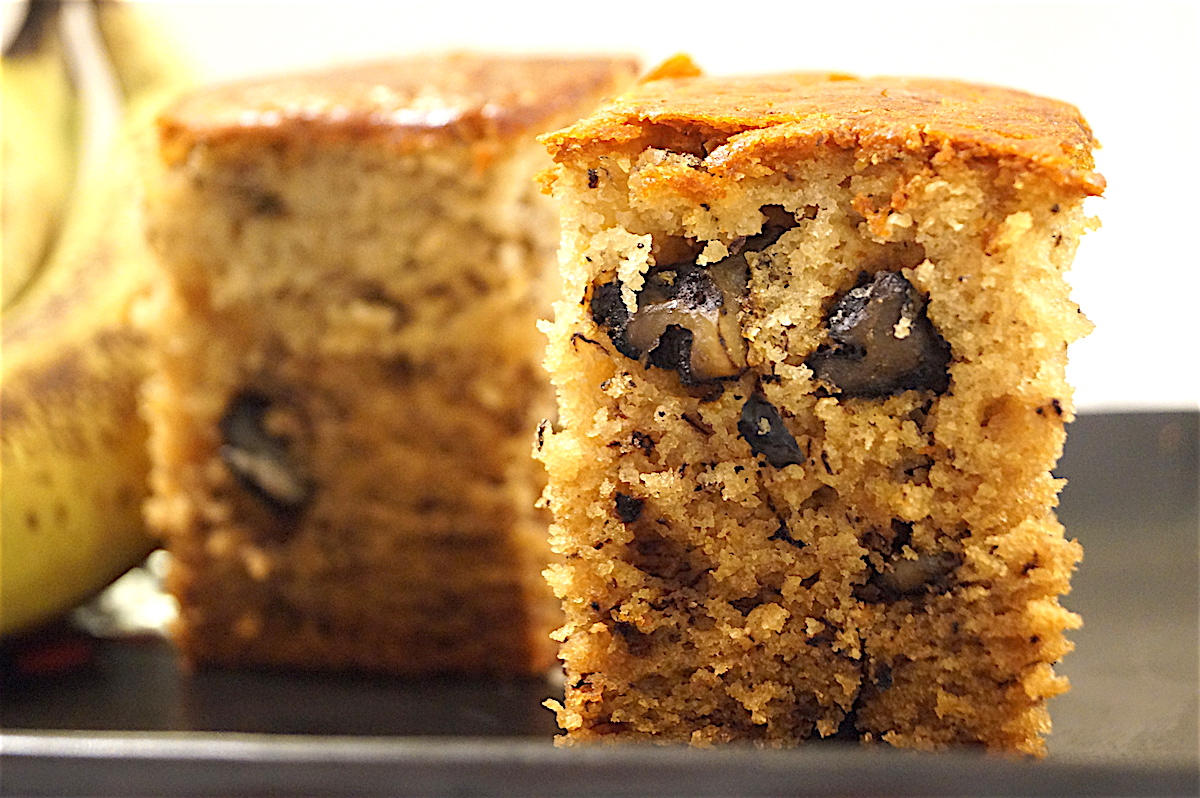 Rustic Banana Walnut Cake (Eggless)