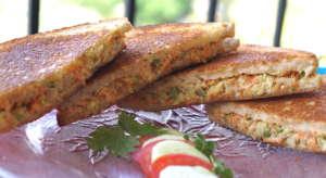 Grilled Vegetable Coleslaw Sandwich (No Mayo)