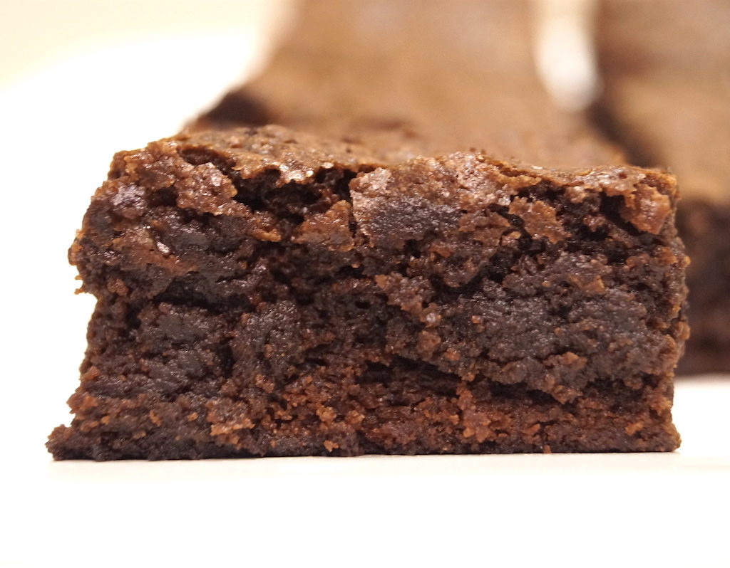 Fudge brownies using real chocolate
