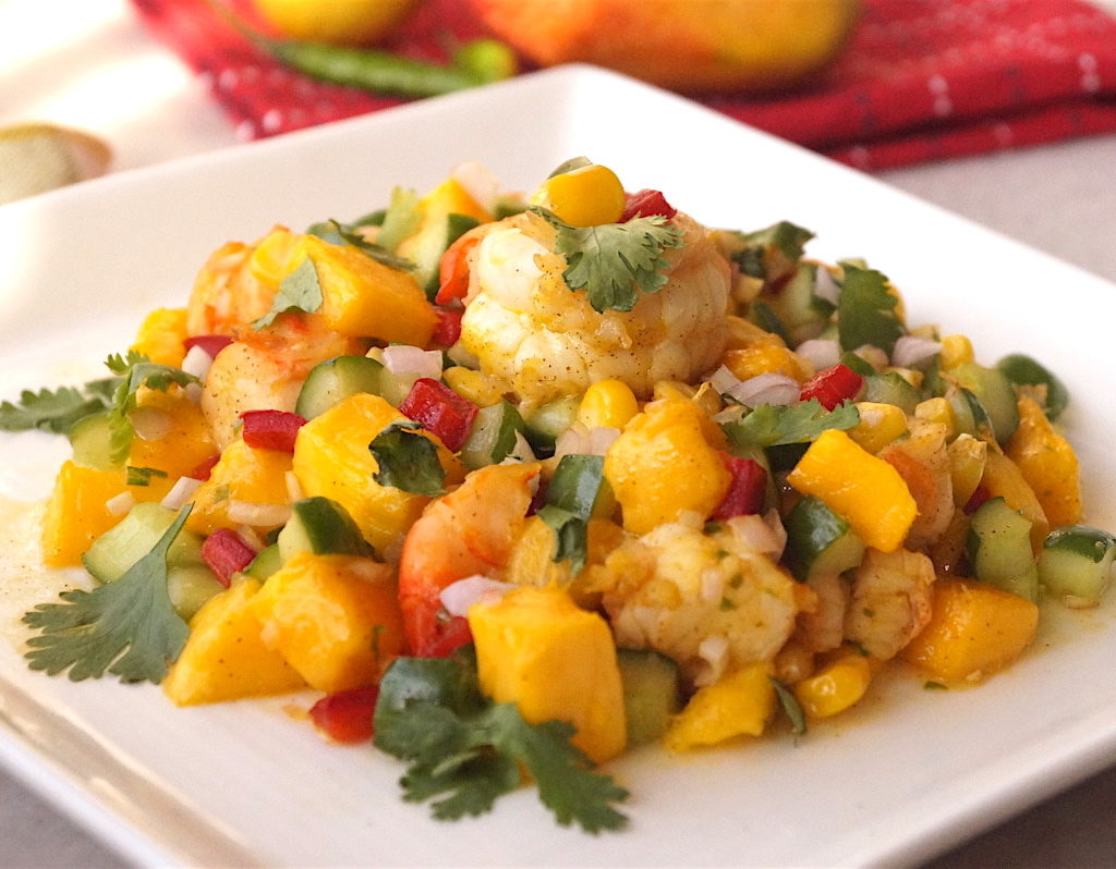Prawn and Mango Salad with Honey Mustard Dressing