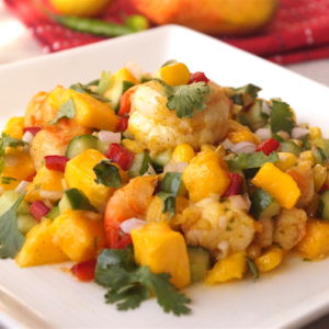 Prawn and Mango Salad with Honey Mustard Dressing