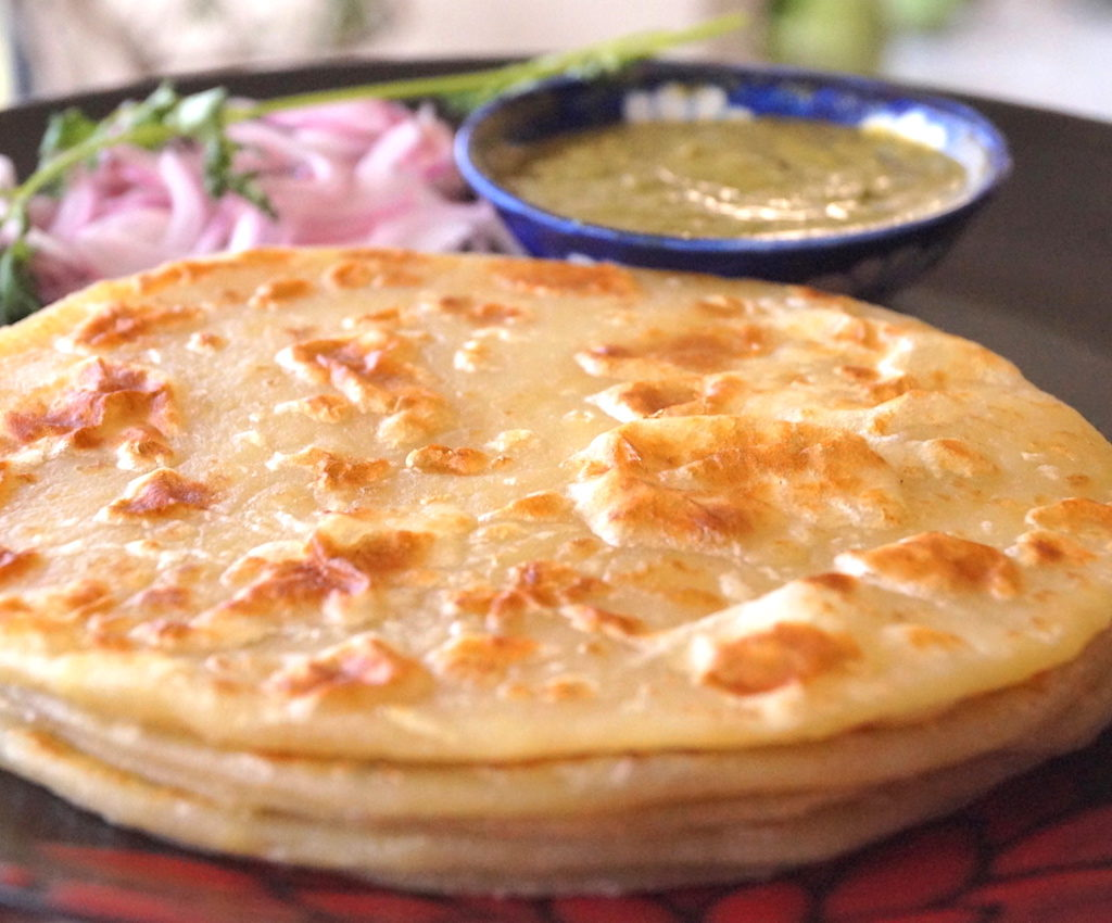 indian flatbread paranthas made with flour and potato