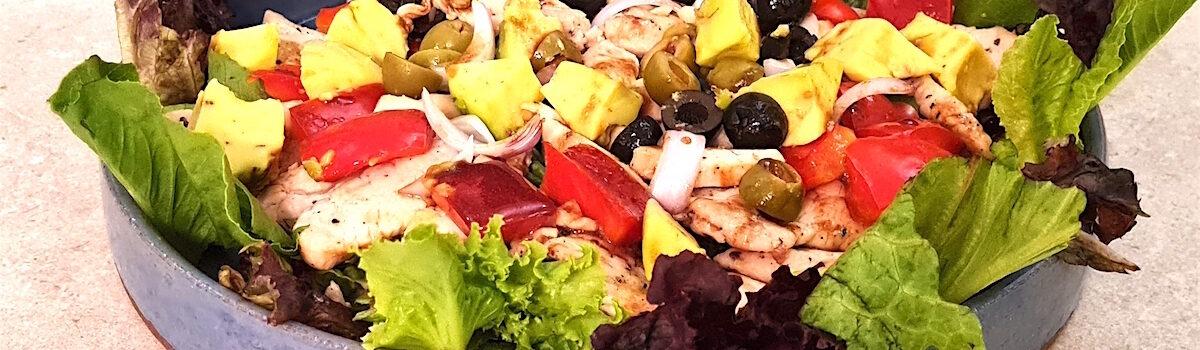 Garden Salad With Grilled Chicken